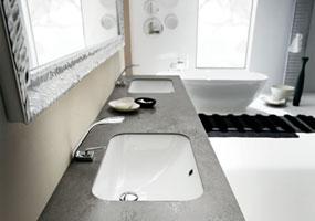 Top bagno in Laminam Oxide Nero da 7mm