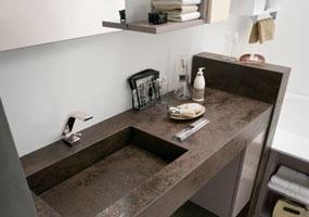 Top bagno in Laminam Oxide Moro da 7mm