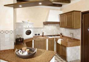 Top cucina con lavello scavato e scivolo in marmo rosso Verona