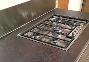 Top cucina in Laminam oxide nero
