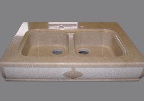 Vasca doppia in marmo Botticino
