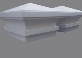 Cappello copri colonna in marmo